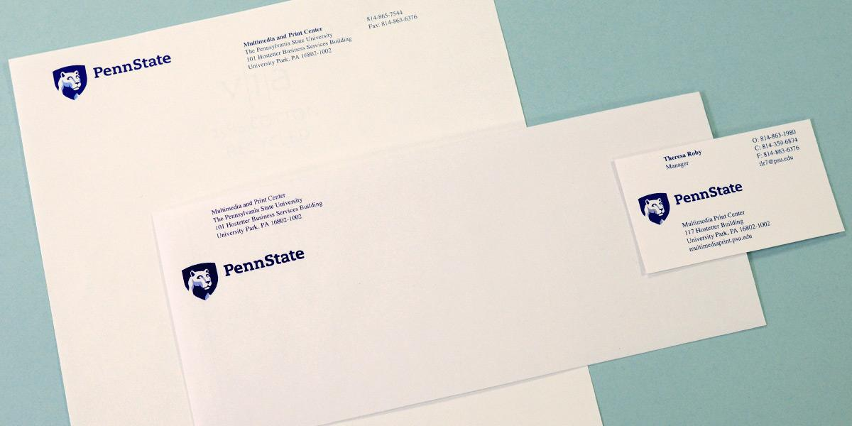 Letterhead, envelope, and business card